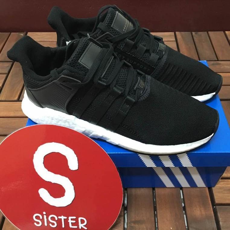 อาดิดาส EQT สนับสนุน 93/17 ขาวดำ BB1236 รองเท้าวิ่งผู้ชายผู้หญิงคู่รองเท้า