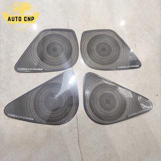 Ốp màng loa cho xe TOYOTA CROSS chất liệu thép mạ TITAN, bảo vệ khu vực loa sạch sẽ không bụi bặm AUTO CNP thumbnail