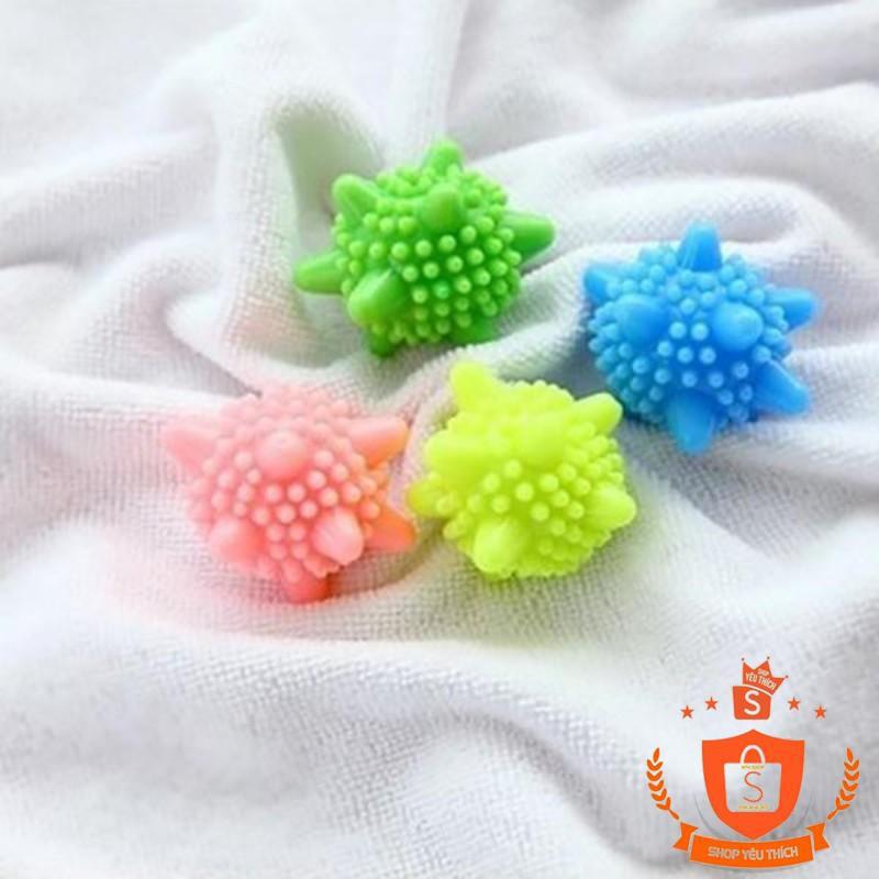 [ẢNH THẬT]  Set 4 bóng giặt sinh học mini tiện dụng