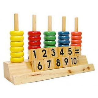 combo sỉ 4 bộ đồ chơi xếp số gỗ hộp dài sỉ 80k
