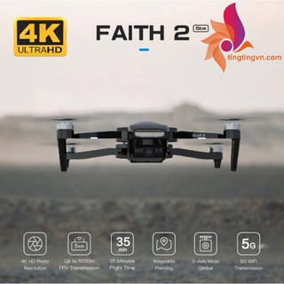 C-Fly Faith 2 Pro Dual GPS GNOLASS Camera 4K 30fps 20MP 5KM Thời gian bay 35 phút