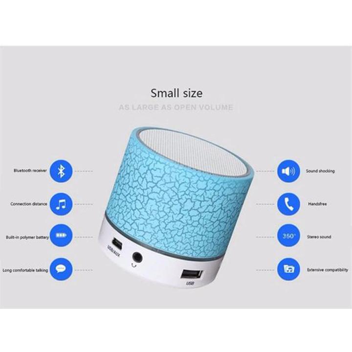 (GIÁ CỰC RẺ) Loa mini Bluetooth a9 ánh sáng đổi màu