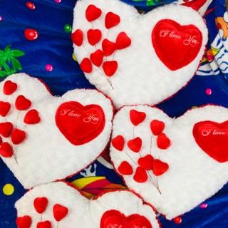 Trái tim nhồi bông size 40×40- valentine