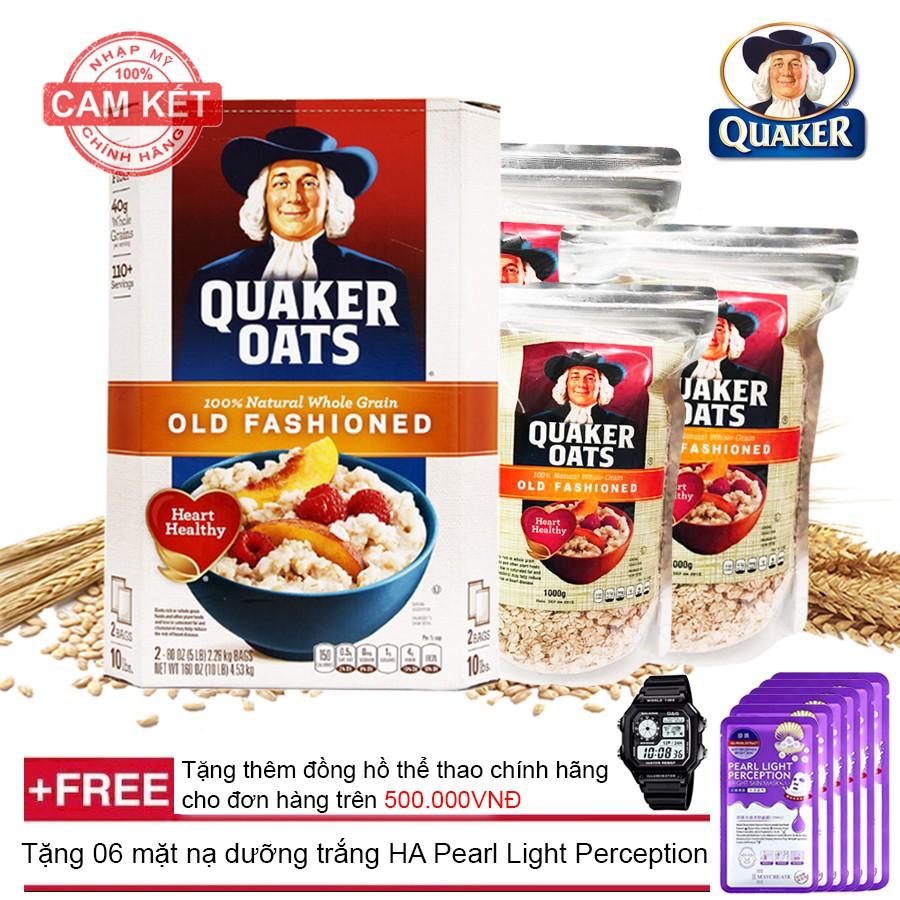 Bộ 3 túi Yến mạch nguyên hạt cán dẹt Quaker Oats (Loại 1kg /1túi) + Tặng 06 mặt nạ dưỡng trắng HA Pe - 2979561 , 880015578 , 322_880015578 , 400000 , Bo-3-tui-Yen-mach-nguyen-hat-can-det-Quaker-Oats-Loai-1kg-1tui-Tang-06-mat-na-duong-trang-HA-Pe-322_880015578 , shopee.vn , Bộ 3 túi Yến mạch nguyên hạt cán dẹt Quaker Oats (Loại 1kg /1túi) + Tặng 06 mặt