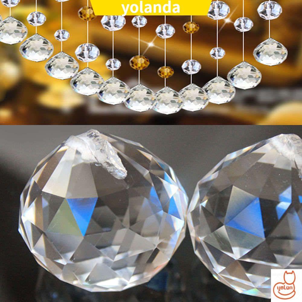 ☆YOLA☆ Clear Lighting Accessories Rainbow Sun Catcher Lamp Chandelier|Ball Refurbishing Decor 20mm Prism
