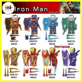 Minifigure Lego Marvel siêu anh hùng ngươi sắt Iron Man WM6065 thumbnail