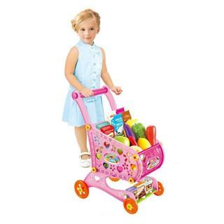 Đồ chơi xe đẩy hàng siêu thị cho bé