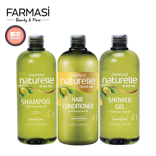 [COSMALL15 -12% ĐH250K][Combo3] Dầu Gội và Dầu Xả và Sữa Tắm Chiết Xuất Olive Farmasi 375ml/chai
