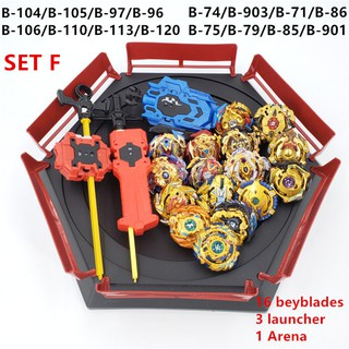 Beyblade Burst Spinning Top 16pcs gyros with Launcher Handle Gift Toys for Kids