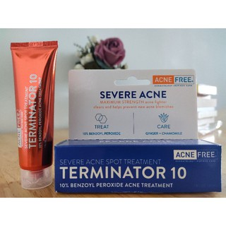 Kem Chấm Mụn AcneFree Terminator 10 Acne Spot Treatment with 10% Maximum Strength Benzoyl Peroxide (bill Mỹ) thumbnail