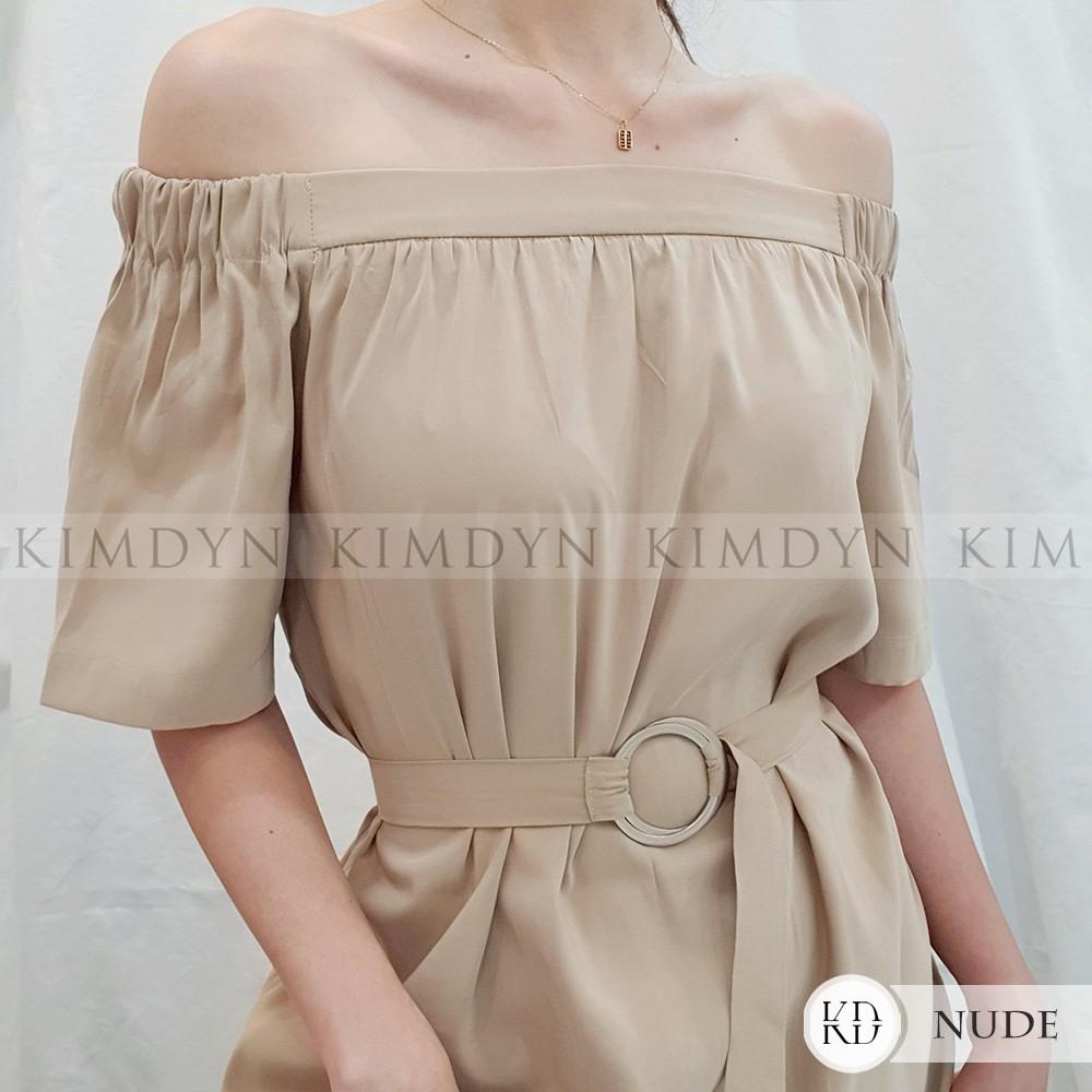 Đầm suông trễ vai nữ tính KIMDYN [KDD02]