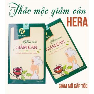 Giảm cân Hera Plus Trà giảm cân nhanh cấp tốc Giam can Hera-an toàn không tác dụng phụ thumbnail