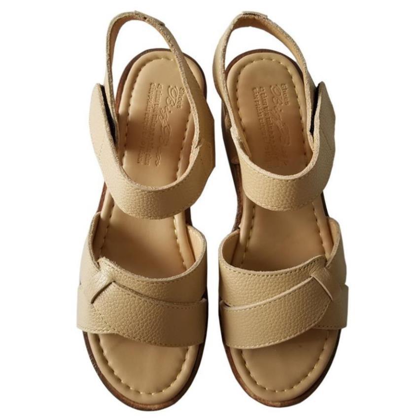 [Sale 3/3]Giày sandal xuồng nữ BIGGBEN da bò thật cao cấp HKD044 -pi9