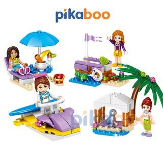 Đồ chơi cho bé gái Pikaboo bộ xếp hình các hoạt động giải trí chất liệu nhựa chắc khỏe an toàn thumbnail