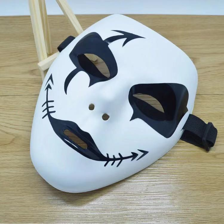 ✥◐Zombie clown scary Halloween mask men's terrorist face half trill funny costume party props