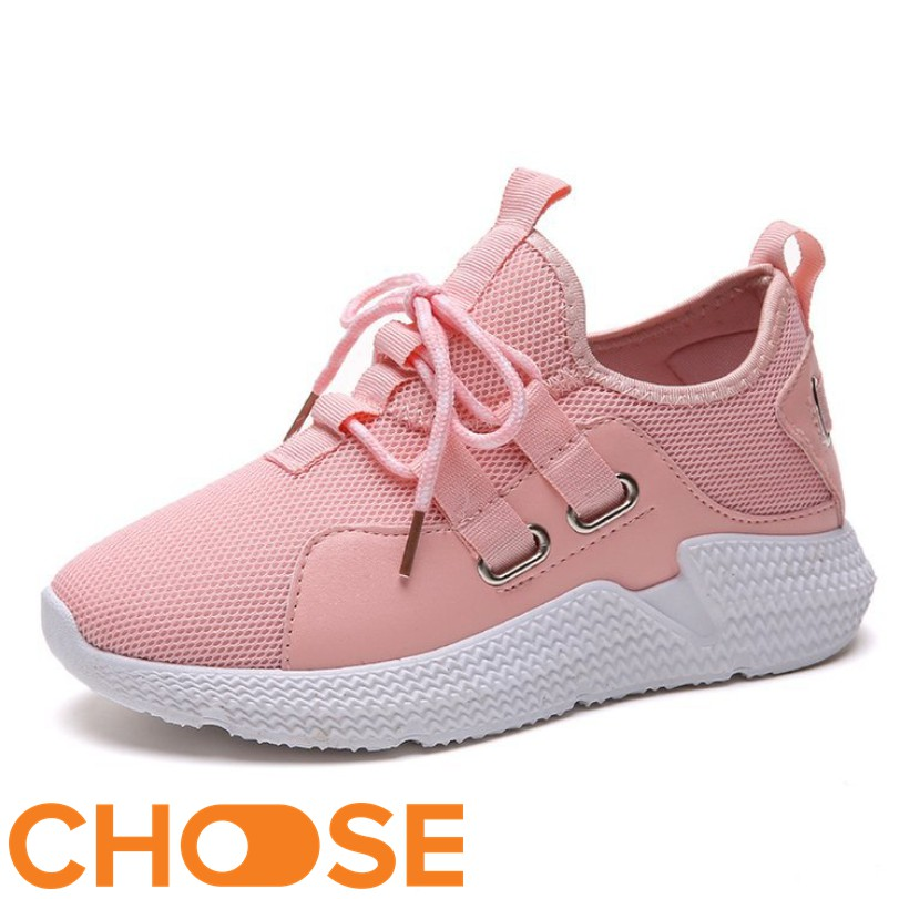 Giày Nữ Thể Thao Vải Choose Phối Kiểu Cột Dây Tăng Chiều Cao G1411