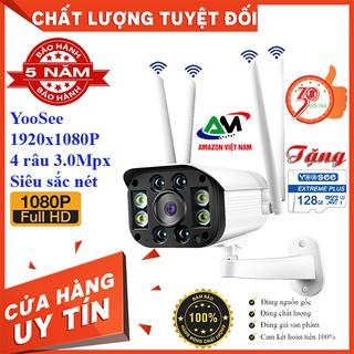 [Tặng thẻ nhớ 128GB] Camera Wifi YooSee 8 Led 4 Râu ngoài trời 3.0Mpx Full HD 1920x1080p