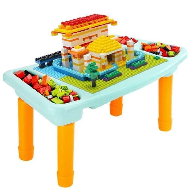 Bộ bàn xếp hình lego và 303 miếng ghép