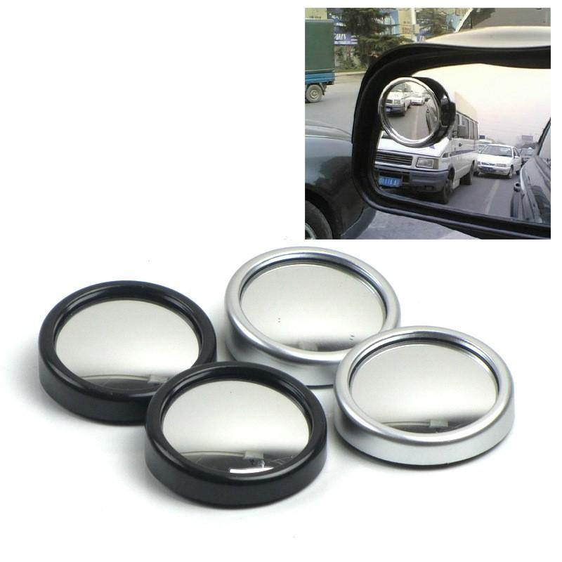 Bộ 2 gương cầu lồi gắn kính chiếu hậu cỡ nhỏ màu đen - màu bạc
