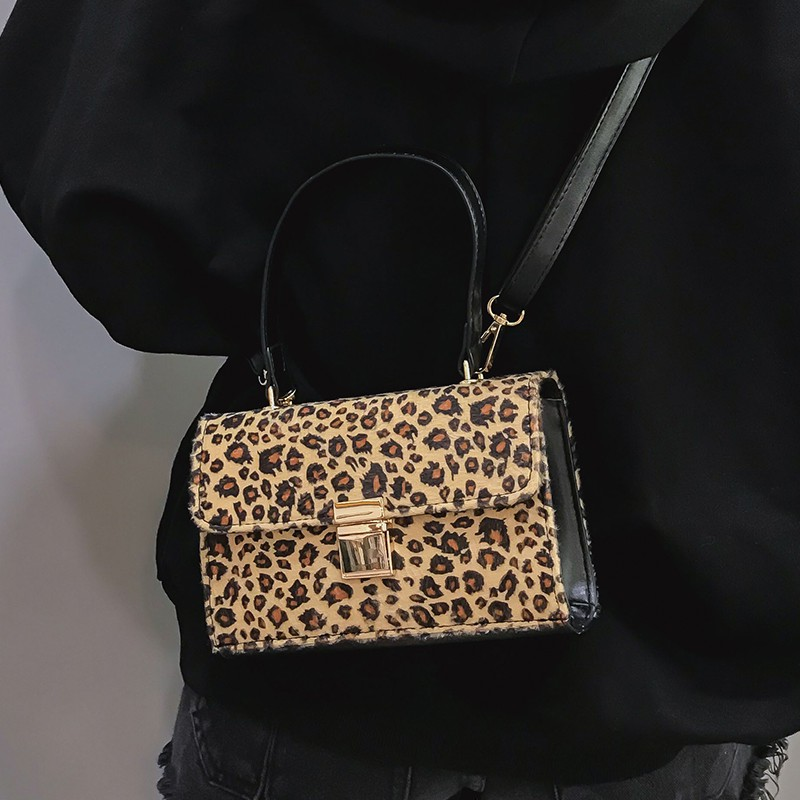 Hong Kong style women's messenger bag personality leopard print tide tide bag