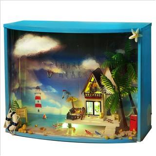 Mô hình nhà búp bê trong hộp kính Valencia Summer Sea