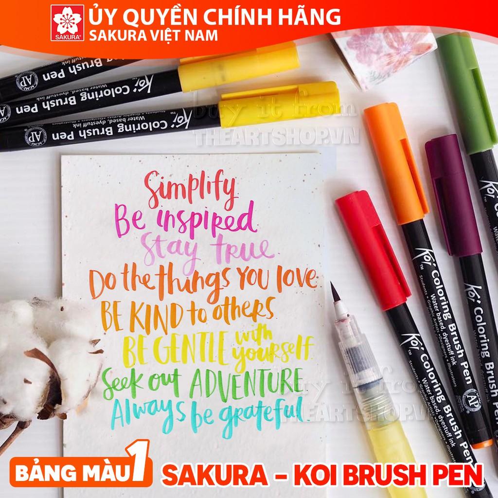 (P1)Bút cọ màu nước SAKURA (Bán lẻ) - SAKURA KOI Coloring Brush Pen (Single)