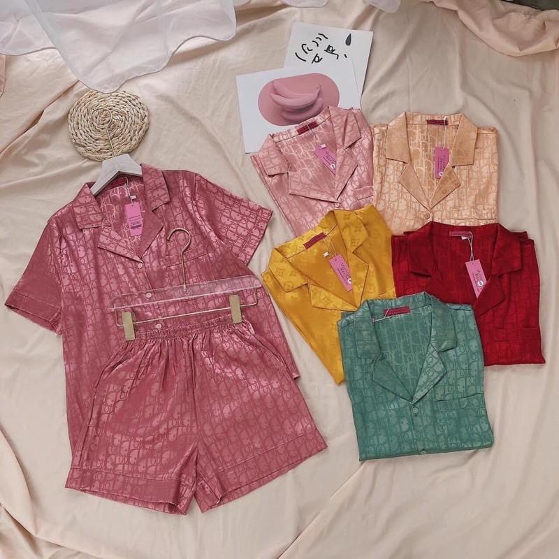 Mặc gì đẹp: Mát mẻ với Bộ đồ Pijama lụa💖Bộ lụa gấm cộc-đùi cao cấp [hàng chuẩn kèm Video+ảnh thật]