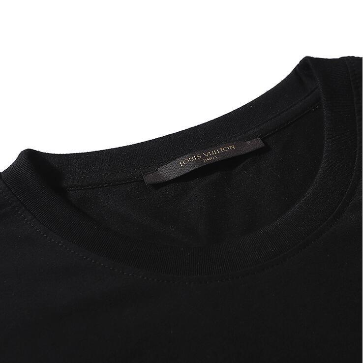 Fashion LV sequined cotton unisex T-shirt