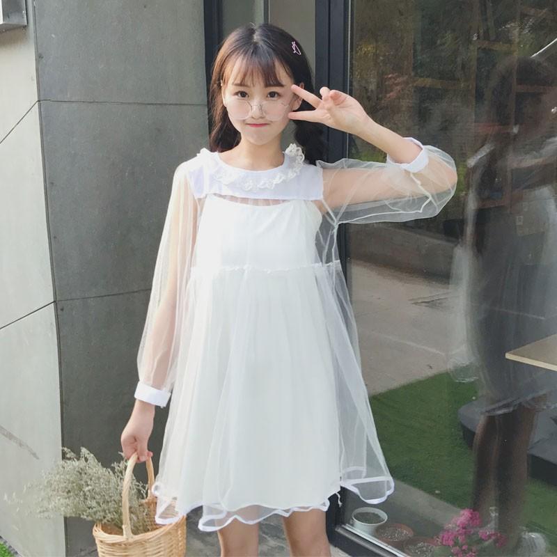 [ORDER] Đầm xòe tay lưới ulzzang #103