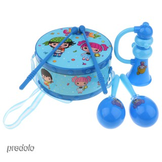 6Pcs Plastic Musical Instrument Kit Kids Baby Early Developmental Toy Gift