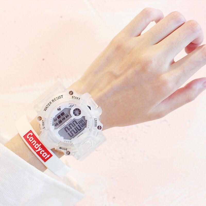 Đồng hồ thời trang nam nữ Water Resist điện tử phong cách Ulzzang J9782