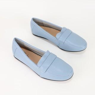 Giày mọi Misho đế bằng da thật 1060