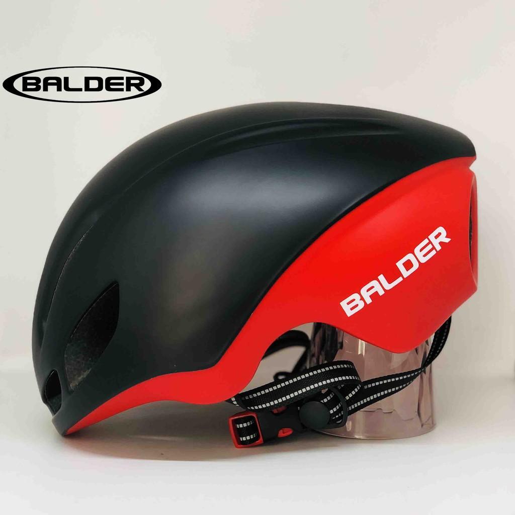 Mũ xe đạp thể thao BALDER B79 cao cấp ĐEN ĐỎ