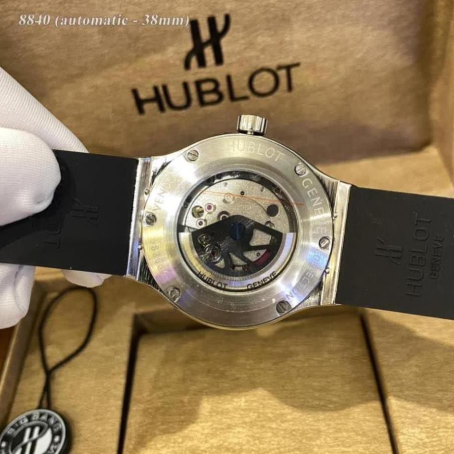 [Máy cơ] Đồng hồ nam Hublot máy cơ automatic - 38mm chống xước, nước hàng fullbox hãng - shop105