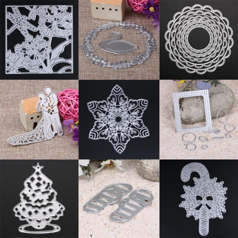 ♥superH♥Metal cuttingdie 5 Metal Circles Cutting Dies Stencils DIY Scrapbooking Album Decor Tool