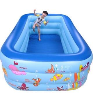 Bể bơi 3 tầng siêu to khổng lồ 1,8m ( tặng kèm keo vá bể và 20 bóng nhựa )