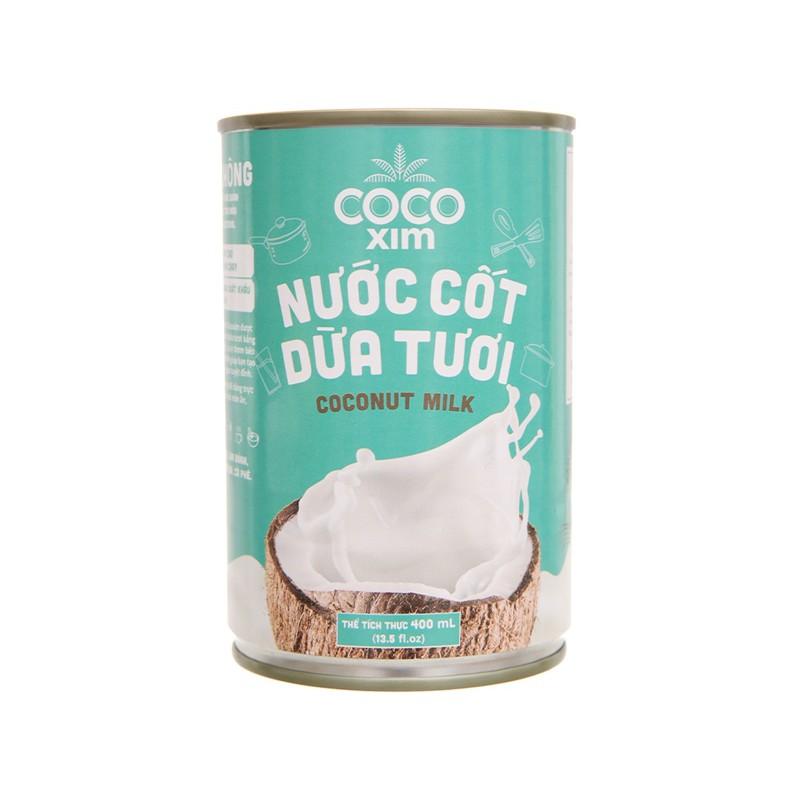 [Mã 267FMCGSALE giảm 8% đơn 500K] Nước Cốt Dừa Tươi Coconut Milk COCOXIM 400 ml x 24 Lon (Lon) - TCN083