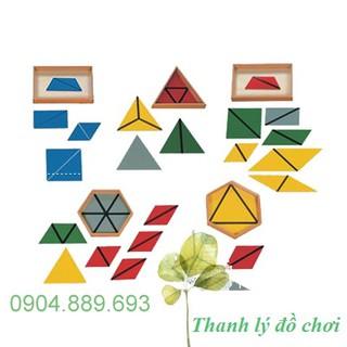 Tạo hình tam giác cỡ lớn, Constructive Triangles 5 Boxes – Giáo cụ Montessori