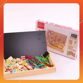 [KAS] Bảng gỗ 2 mặt dạy bé học toán Loại Xịn
