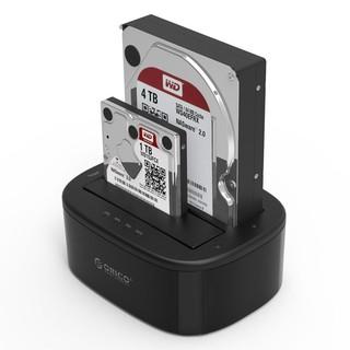 Đế cắm ổ cứng đôi Orico 6228US3 (2 khe cắm) kết nối chuẩn 3.0 - Dock ổ cứng 2,5 và 3,5 HDD SSD - Hàng Chính Hãng thumbnail