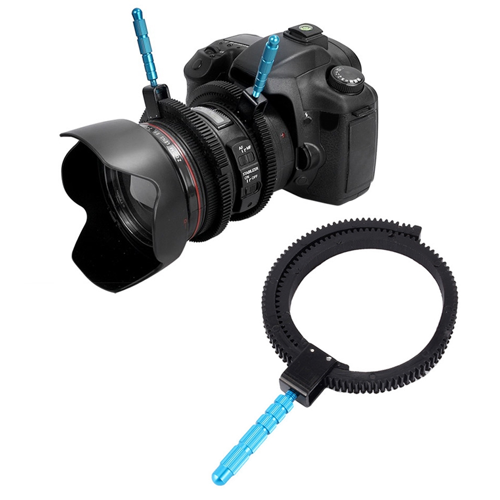 New Brand Camera Accessories Adjustable Rubber Follow  Gear Ring Belt with Aluminum Alloy Grip for DSLR Camcorder