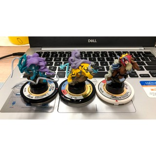 Mô hình Pokemon TFG Trading Figure Game bộ 3 Suicune Raikou Entei