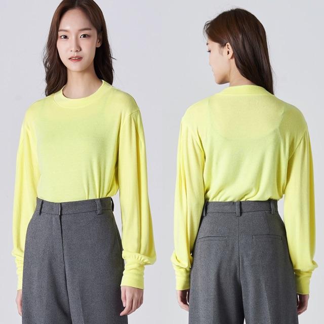 Áo thun len dệt kim xuất Hàn