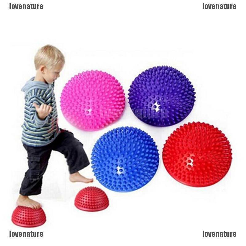 Đồ chơi hình bóng bán cầu có gai chất liệu nhựa PVC dùng massage lòng bàn chân