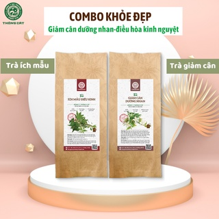 Combo phụ nữ với thảo dược trà ích mẫu điều hòa kinh nguyêt,giảm cân dưỡng nhan Đông y gia truyền Thông Cát (Since 1918) thumbnail