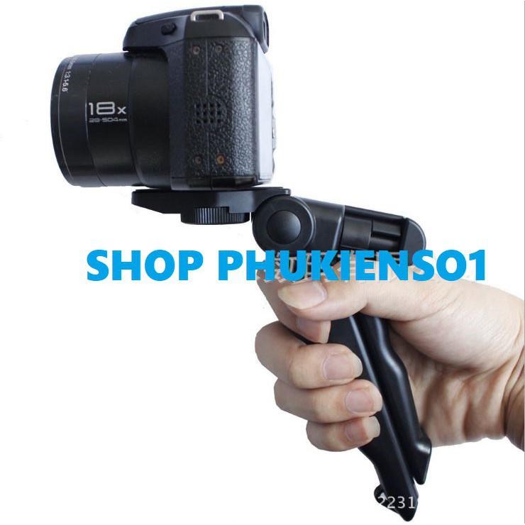 Tripod Tay cầm Camera Gopro Máy ảnh Điện thoại Có Thể Gập Lại gọn nhẹ tiện dụng