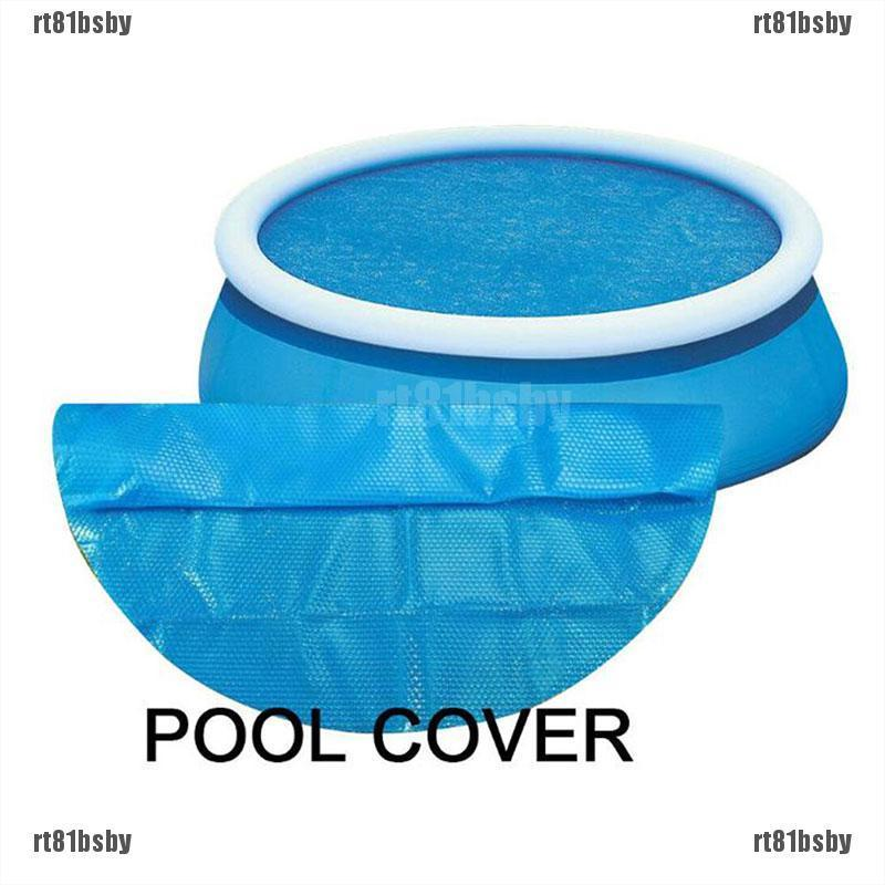 [rt81bsby]8/10 FT Round Blue Solar Cover Sheet for Above Ground Swimming Po