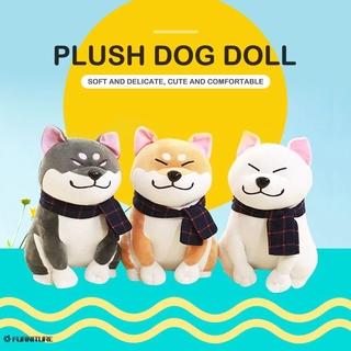 Creative Cute Plush Toy Super Cute Scarf Shiba Inu Doll FURNITURE
