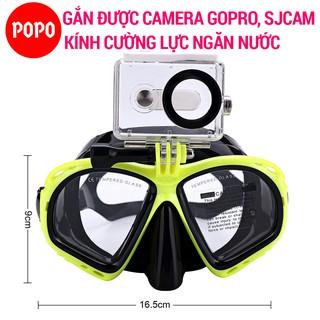 Kính lặn Gopro, MẮT KÍNH CƯỜNG LỰC gắn được GOPRO, SJCAM, Camera hành trình - POPO Sports