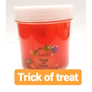 Clear slime trick of treat